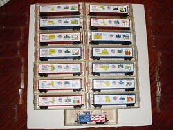 N Scale Kadee Micro Trains Complete 14 Car Bicentenial Set With Caboose, Used