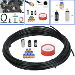 1/4 20m Car Hydraulic Line Brake Hose Pneumatic Air Pipe Connect Fittings Set