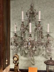 Large Awesome Crystal Wall Sconce Antique Wall Sconce From Chicago Home 2 Avail