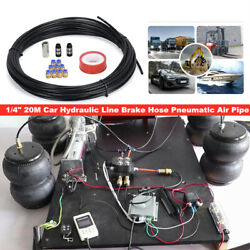 1/4 20m Car Hydraulic Line Brake Hose Pneumatic Air Pipe Connect Fittings Parts