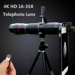 4k Hd 16-35x Zoom Telephoto Phone Camera Lens Bluetooth Remote For Iphone 11 Xs