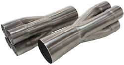 Aeroflow Stainless Steel 4 Into 1 Merge Collectors 2-1/2 Primaryand039s Into 4-1/2