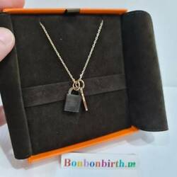 New Collectible Hermes Kelly Lock And Key Pendant Necklace Rosegold Hardware Dhl