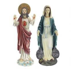 """Jesus 23.5"""" And Mary 23"""" Outdoor Garden Easter Xmas Spring Sculpture Dt J15"""
