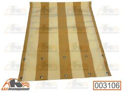 Awning Orange And White For Citroen 2cv Soft Top Closing Interior - 003108