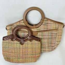 Fossil Straw Two Hobo Bags Straw Handbags $45.00