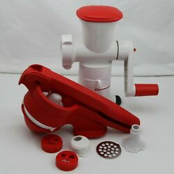 Tupperware Press Master Juicer And Fusion Master Mincer And Master System Base