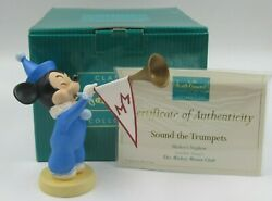 Wdcc Sound The Trumpets Mickey's Nephew From Mickey Mouse Club In Box With Coa