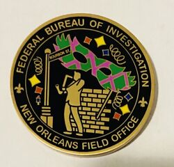 Sought After And Unique-fbi New Orleans Field Office -fbi Challenge Coin