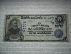 1902 5 Colorado Springs Co National Date Back 8572 Only 5 Db Known