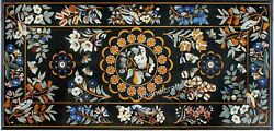 Cottage Handicrafts Marble Dining Table Top Black Reception Table 30 X 60 Inches