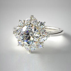 Christmas Sale 1.02 Ct Real Diamond Anniversary Ring 14k White Gold Size 6 8 5 9