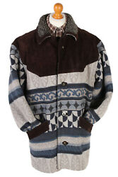 John Lord Ethnic Forrest Printed Jacket Coat 90and039s Vintage Multi Size Xxl -c1142