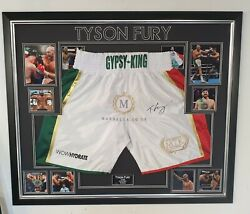 Rare Tyson Fury Signed Shorts Trunks Autographed Display Aftal Dealer