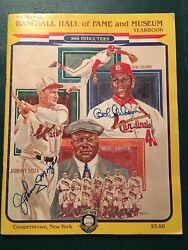 1981 Baseball Hall Of Fame Yearbook With 33 Autographs - Mantle, Mays, Williams,