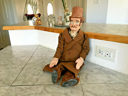 Marionette Handmade Principal Paper Mache Cloth Puppet Genuine Leather Boots