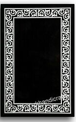 36 X 48 Inches Black Marble Table Top Hand Crafted Dining Table Home Decorative