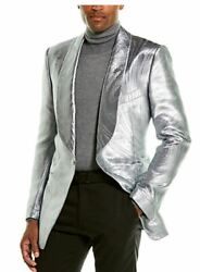 Tom Ford Metallic Silk-blend Blazer Jacket-with Tags- Rrp5300 Aud