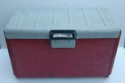 Vintage Thermaster Poloron Aluminum Metal Cooler Ice Chest