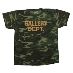 Gallery Dept. Distressed Camouflage Print T-shirt Size Xl Fits Like L