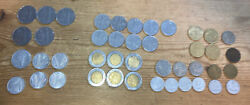 Estate Lot Of 43 Italian Coins Mixed Dates And Conditions L 500l200l1002010