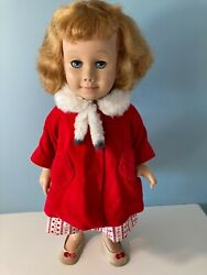 Vintage 1960 Chatty Cathy Doll And Clothes 20, American, Soft Vinyl Face