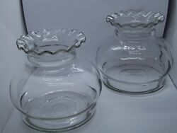Large General Store Candy Glass Display Jars Counter Bowls Lot Of 2