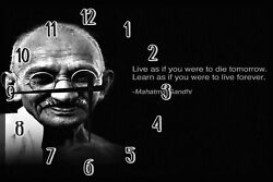 Live As To Die Learn To Live Forever Inspiration Large Clock Wall Art 18 Inch