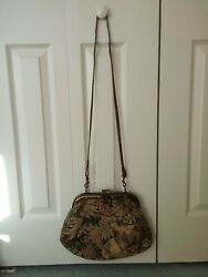 33 East Floral Shoulder Bag Embroidered Etra Italy Italian Knit Purse Women
