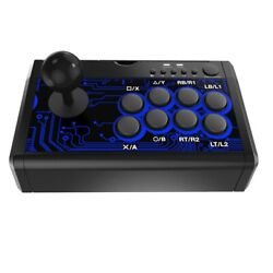 5x7 In 1 Usb Wired Arcade Game Fighting Stick Joystick With Base
