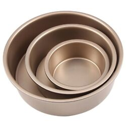 5xround Cheese Mould Cake Pan With Removable Bottom Non-stick Bakeware Cake