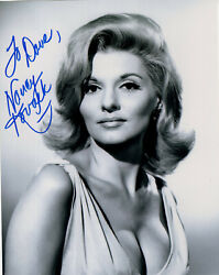 Nancy Kovack Hand Signed 8x10 Photo+coa  Very Sexy Cleavage  To Dave