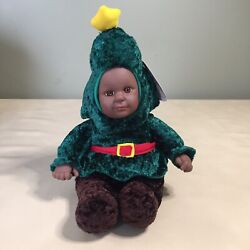 Sugar Loaf Kostume Kids Christmas Tree Plush African American With Tags