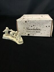 """Dept 56 Snowbabies Miniatures Handpainted Pewter """"i'm Right Behind You"""""""