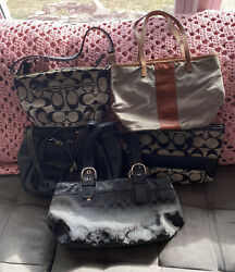 Five Designer Bags Coach Dooney amp; Bourke amp; M. Kors In Good Used Condition $65.00