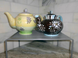 {set Of 2} Ceramic Teapots - Pier 1 Imports And English Tea Store | Floral Design