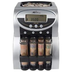Electric Coin Counter Sorter Machine Money Change Counting Lcd Roll Wrapper Ba