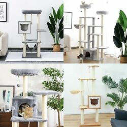 Cat Tree Multilevel Cat Towers with Luxury Condos and Extra Large Top Perch US