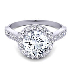 Round 0.80 Ct Natural Diamond Anniversary Ring Solid 14k White Gold Size 7 8 9