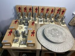 Pewter Knights Of The Round Table Les Etains Du Graal King Arthur Complete Set