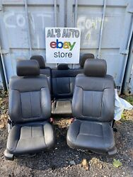 09-14 Ford F150 Seats Crew Cab Black Leather Power Heated Blown Bag Oem