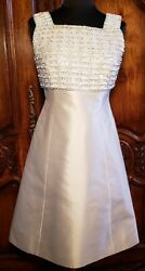 Authentic Nwt Vintage Boutique Ivory Silk Dress Cocktail Evening Wedding