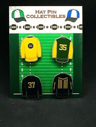Green Bay Packers Jersey Lapel Pins-4-rare Classic Cheese Collectibles