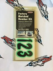 Hardline Factory Matched Letters And Numbers Series 200 - Kiwi/black - Blkki200