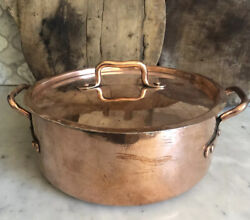 """Antique French Copper Dutch Oven,early 1900,""""fait Tous"""",professionally Re-tinned"""