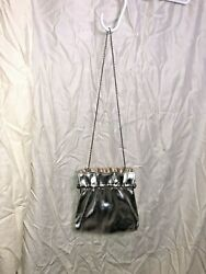 Vintage Andre Cellini Silver Evening Purse Bag Party Formal w Chain Strap $21.99