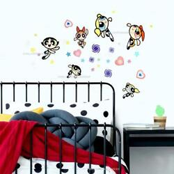 Powerpuff Girls Peel amp; Stick 30 Wall Decals Blossom Bubbles amp; Buttercup Stickers