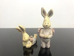 Sarahs Attic Limited Edition Figurine Wendall And Wilbur Bunny Rabbits 1989