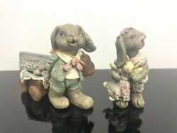 Sarahs Attic Limited Edition Tabitha And Toby Bunny Rabbits Easter 1990