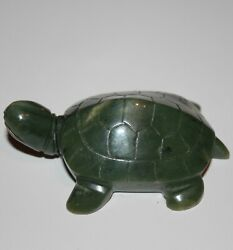 A Vintage Republic Chinese Green Nephrite Jade Snuff Bottle Turtle 297